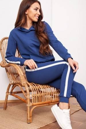 женский синий спортивный костюм в полоску - Одежда