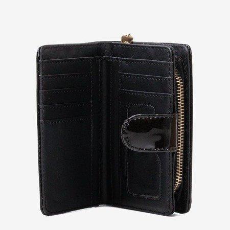 Bordowy portfel wykonany ze skóry ekologicznej - Portfel