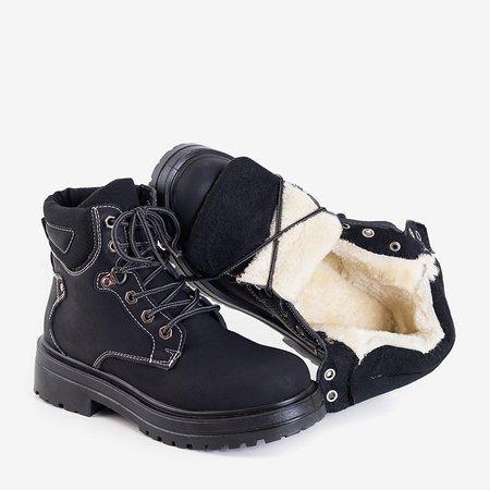 Черные женские утепленные сапоги Paventia - Обувь