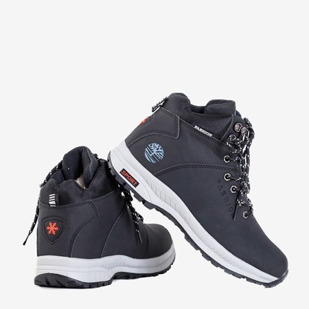 Черные женские утепленные зимние ботинки Emeralda - Обувь