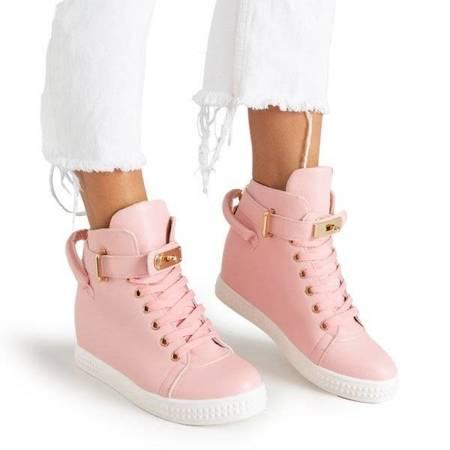 OUTLET Розовые кроссовки с золотым орнаментом Harla - Обувь