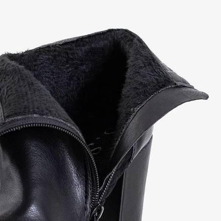 OUTLET Черные женские сапоги на столбе с декоративной молнией Сантьяго - Обувь