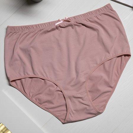 Розовые женские хлопковые трусики ПЛЮС РАЗМЕР - Нижнее белье