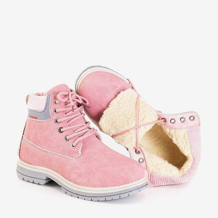 Розовые женские утепленные ботинки Triniti - Обувь