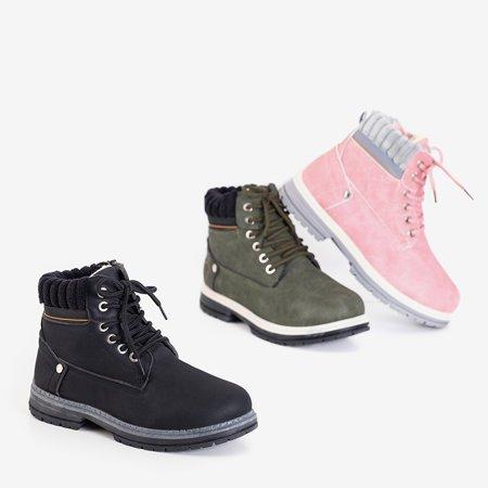 Женские утепленные сапоги Magiten цвета хаки - Обувь