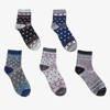 Женские разноцветные носки до щиколотки, 5 шт. В упаковке - Носки