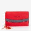 Маленький красный женский кошелек - Кошелек