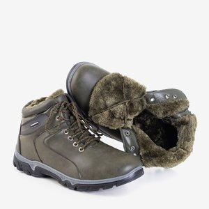 Мужские трекинговые ботинки Hurad утепленные цвета хаки - обувь