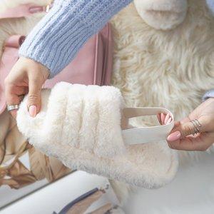 Шлепанцы женские цвета экрю Fornax - Обувь