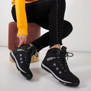 Женские черные зимние сапоги со снежинками Sniesavo - Обувь