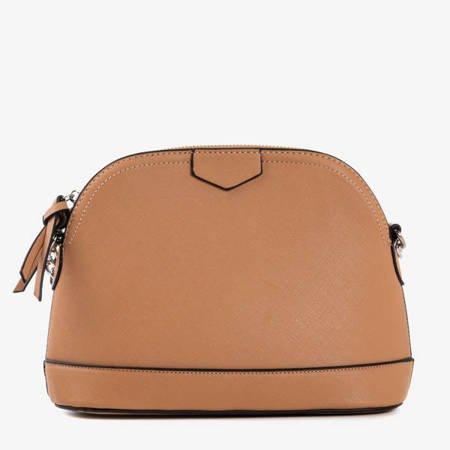 Бежева напівкругла сумка через плечі - Сумки 1