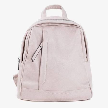Бежевий маленький жіночий рюкзак - Сумки 1