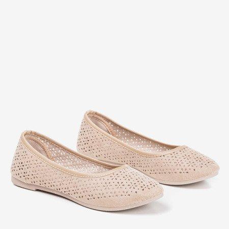 Бежеві ажурні балерини Mysolva - Взуття 1