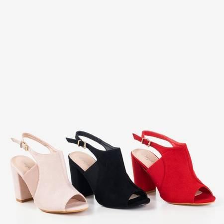 Бежеві босоніжки з верхом на високій пості Bartom - Взуття