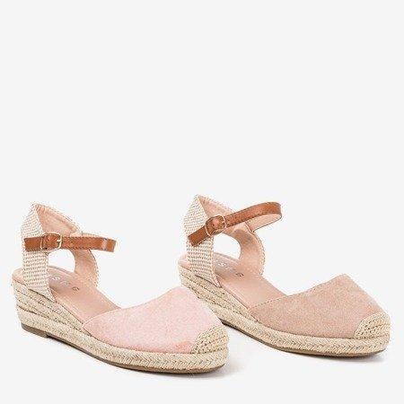 Бежеві босоніжки на клині a'la espadrilles Pylunia - Взуття 1