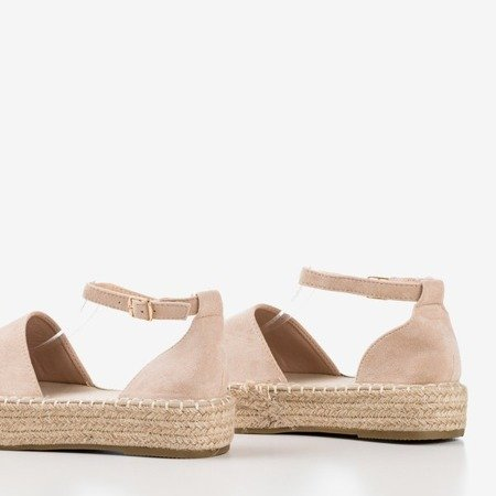 Бежеві еспадриси жіночі на платформі Maritel - Взуття