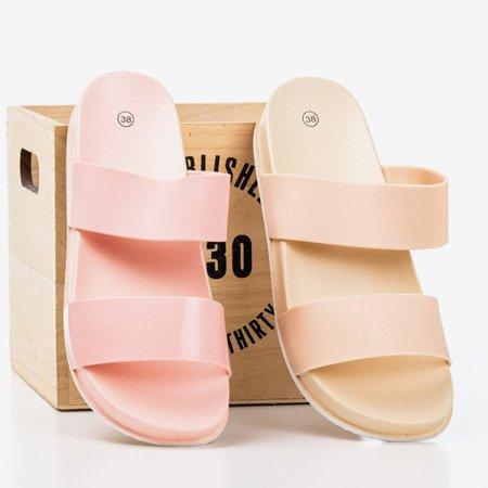 Бежеві жіночі тапочки з смужками Whista - Взуття 1
