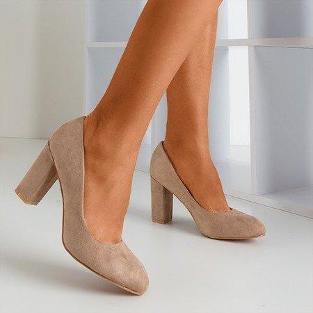 Бежеві насоси на штангу Amelle - Взуття