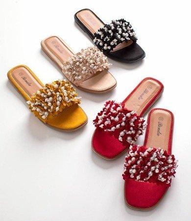 Бежеві шльопанці з прикрасами Моллі - Взуття 1