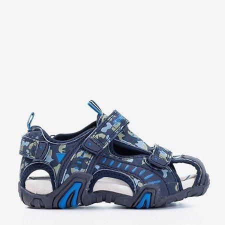 Босоніжки темно-сині босоніжки з бамбуком Berti - Взуття