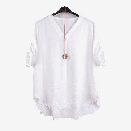 Біла жіноча класична туніка - Блузки 1