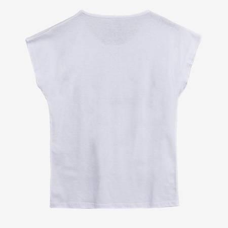 Біла жіноча футболка з принтом - Одяг 1