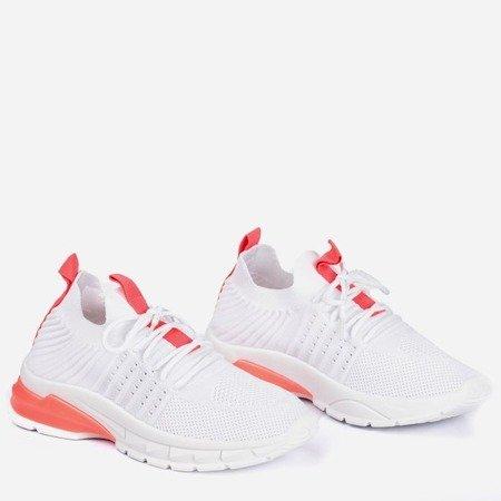 Біле спортивне взуття з неоновими рожевими вставками Брайтон - Взуття 1