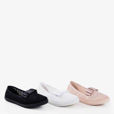 Білі ажурні кросівки з бантом Nadin - Взуття