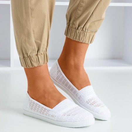 Білі жіночі мокасини без застібки Ticolisa - Взуття