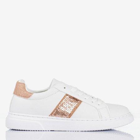 Білі жіночі спортивні кросівки з рожевими вставками Гіпноз - Взуття 1