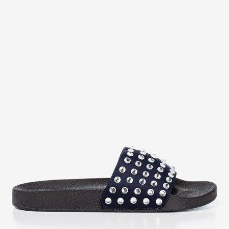 ВМС жіночі шльопанці зі срібними діамантами - Взуття 1