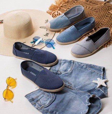 Джинси синьої тканини e'adrilril a'la Timsa - Взуття