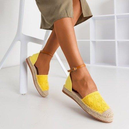 Жовті еспадрилі з ажурною Asti - Взуття
