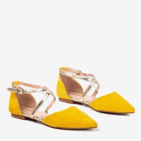 Жовті жіночі плоскі балерини Vosia - Взуття