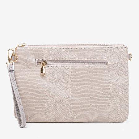 Жіноча сіра маленька сумочка з тисненням тварин - Сумочки