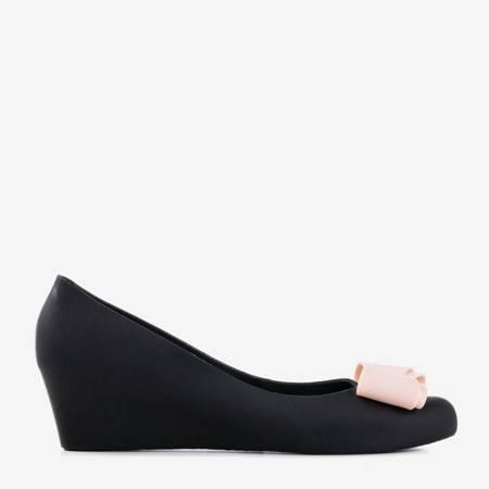 Жіноча чорна гумова меліса на клині Grawiti - Взуття