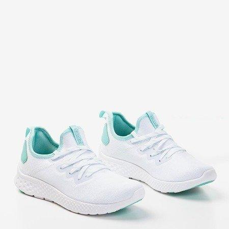 Жіноче біле спортивне взуття з м'ятними вставками Toledo - Взуття