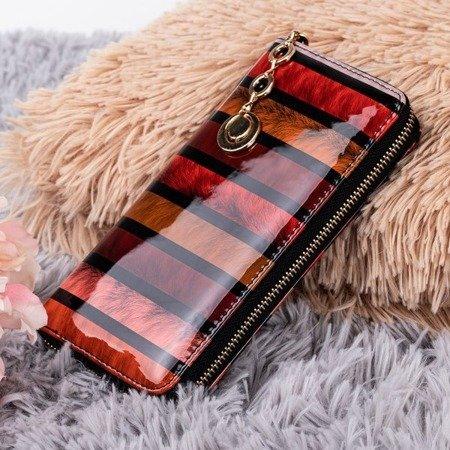 Жіночий гаманець з принтом червоного кольору - Гаманець