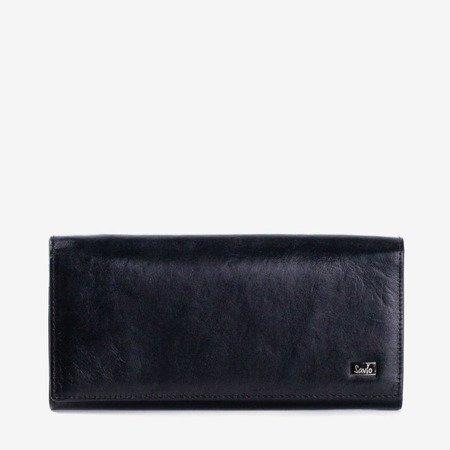 Жіночий чорний шкіряний гаманець - Гаманець