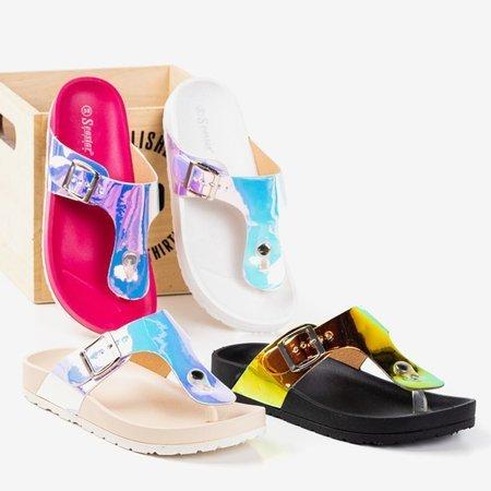 Жіночі голографічні ворсинки Фуксія з пряжкою Маніла - Взуття 1