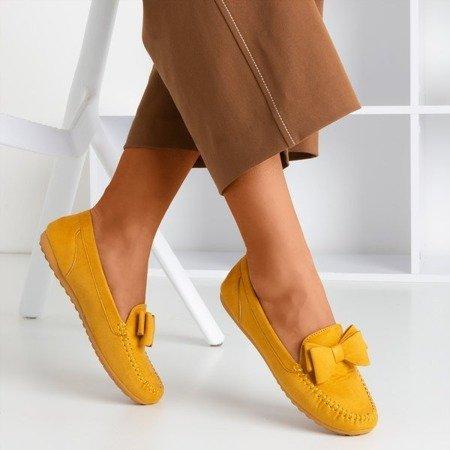Жіночі мокасини з гірчицею з бантом Ursula - Взуття 1