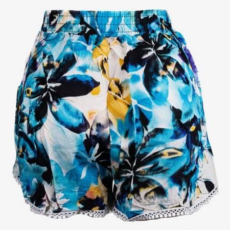Жіночі сині квіткові шорти - Штани