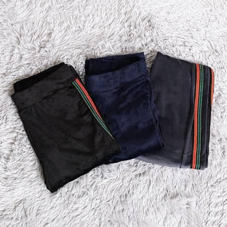 Жіночі темно-сині лосини в смужку - Одяг