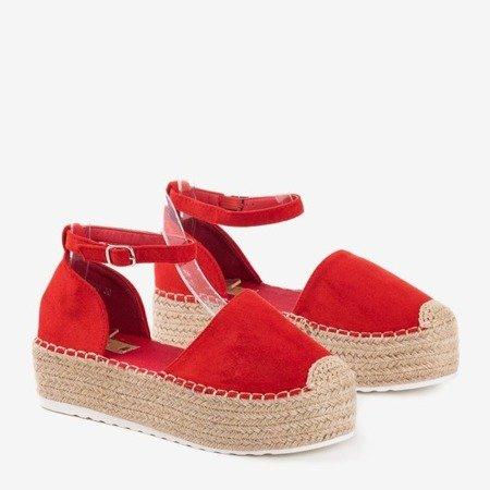 Жіночі червоні еспадриси на платформі Savanto - Взуття