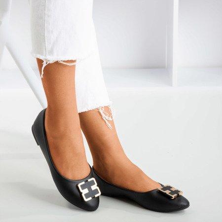 Жіночі чорні балерини з орнаментом на носі Rionach - Взуття