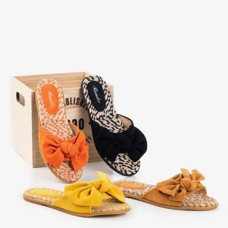 Жіночі чорні тапочки з бантом Revda - Взуття