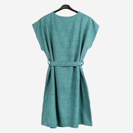 Зелене і синє жіноче плаття з написом - Сукні 1