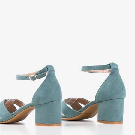 Зелені босоніжки на низьких підборах Parba - Взуття 1