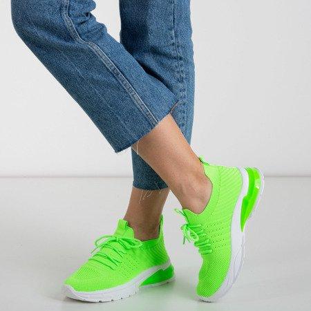 Зелені неонові жіночі кросівки Brighton
