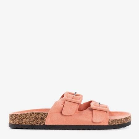 Коралові жіночі шльопанці з пряжками Recasa - Взуття 1